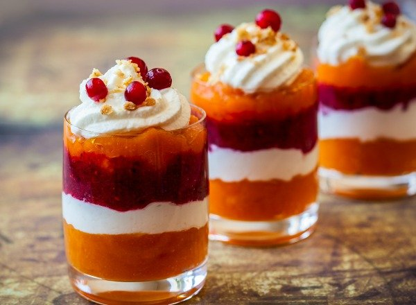 If you're looking for delicious and traditional fruit-inspired British desserts to add to your Thanksgiving, Christmas, and/or Easter spread, my grandma's famous trifle recipe will NOT disappoint. Made with sponge cake, sherry (optional), jello, and fresh whipped cream, this easy dessert was my grandmother's signature dish, and continues to be a family favorite!