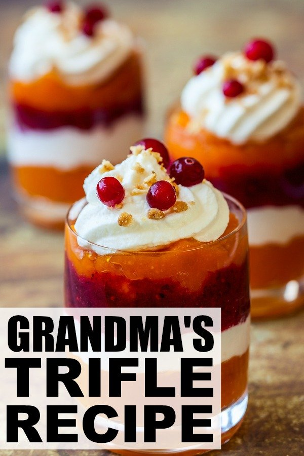 If you're hosting Thanksgiving or Christmas dinner at your house and need the perfect dessert recipe to wow your guests, my grandmother's quick, easy, and delicious trifle recipe is just what you need. Only 6 ingredients!