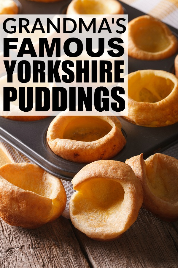 Whether you're hosting a dinner party, or having your in-laws over for a Sunday night roast, my grandma's famous yorkshire pudding recipe is just what you need to wow your guests. Make sure to make an extra batch as they are always the first thing to go when we have family dinners!