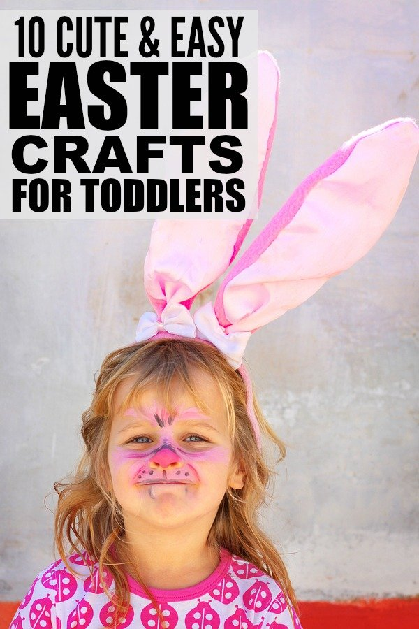 If you're looking for kids crafts to keep your toddlers from climbing the walls on cold, snowy afternoons, check out these ADORABLE Easter crafts for toddlers! They are great boredom busters and make great Easter gifts for grandparents, too!