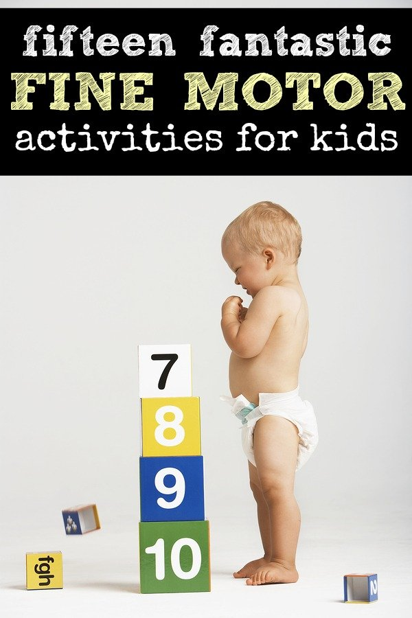 Whether you're specifically looking for activities to help develop your child's fine motor skills, or just need some boredom busters to keep your kids busy while you scrub the toilets, you will love this list of 15 fun & engaging fine motor activities for kids!