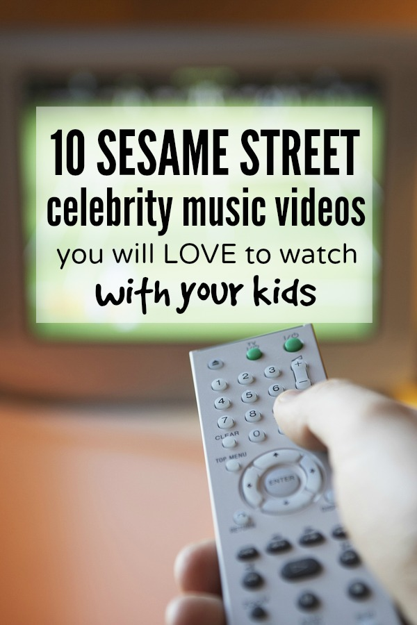 Whether you're having a bad day, or just cannot be bothered to get off the couch, this collection of celebrity Sesame Street music videos is just what you and your kids need to get through the day. #s 3 and 6 are my favorites!