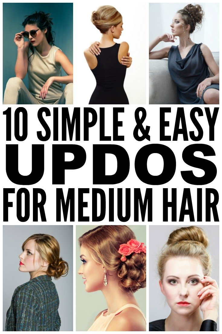 This collection of simple and easy updos for medium length hair is ...