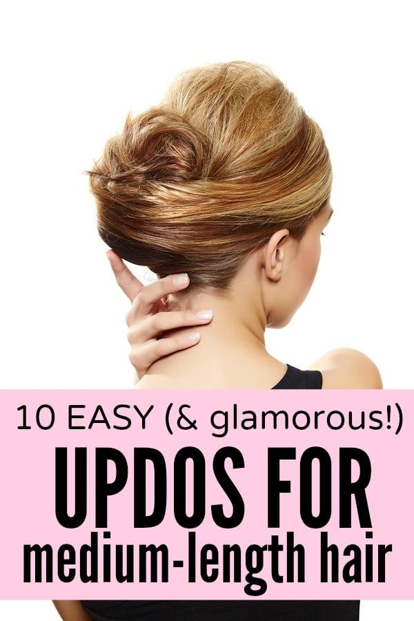 10 easy (& glamorous!) updos for medium-length hair