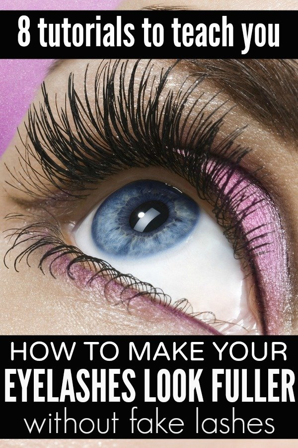 how to make your eyelashes look fuller