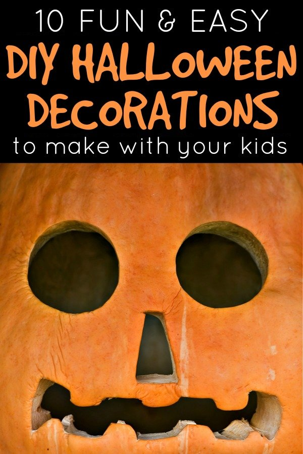 Looking for EASY Halloween decorations for kids to make? We've rounded up 10 simple-to-make DIY ideas that are perfect for decorating your home, school classroom, or front yard. Some of these are cute, others are funny, and some are downright scary. What a perfect way to get your little ones in the Halloween spirit!