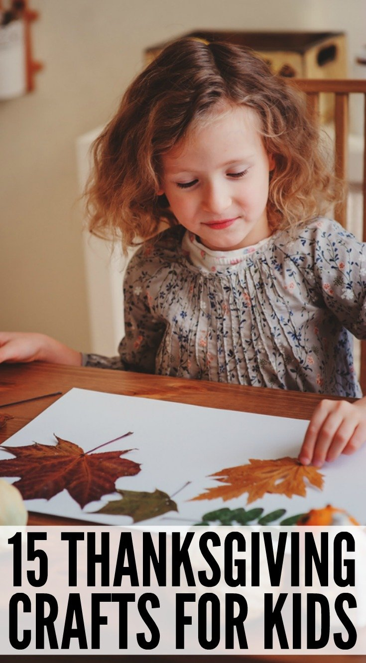 Looking for easy to make thanksgiving crafts for kids to to help get your little ones in the holiday spirit? We've got 15 fun DIY activities that will get your kids excited about turkeys, pilgrims, and cornucopias! Perfect for preschoolers and kindergarteners, these crafts make fabulous classroom art projects to do at school and also double as boredom busters for bad weather days at home.