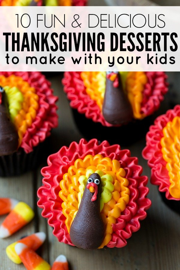 Looking for Thanksgiving desserts for kids to get your little ones excited about the holidays? From Oreo Turkeys to Candy Corn Rice Krispies to Pumpkin Patch Pudding Cups, there's a Thanksgiving dessert in here the whole family will love!