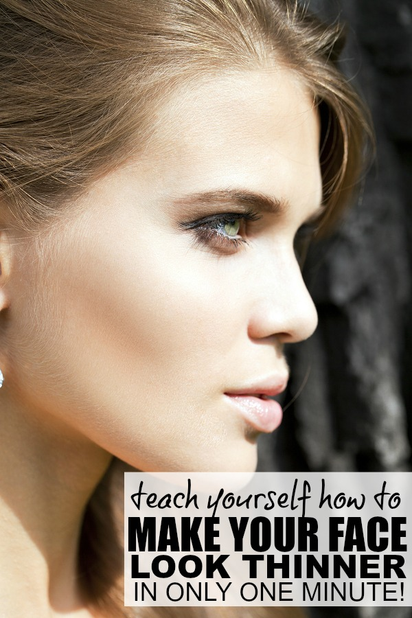 Want to know how to make your face look thinner, but don't have a lot of time to mess around with makeup and ridiculous face exercises? Of course you do! So check out this quick tutorial and find out how to make your face look thinner in ONLY ONE MINUTE!