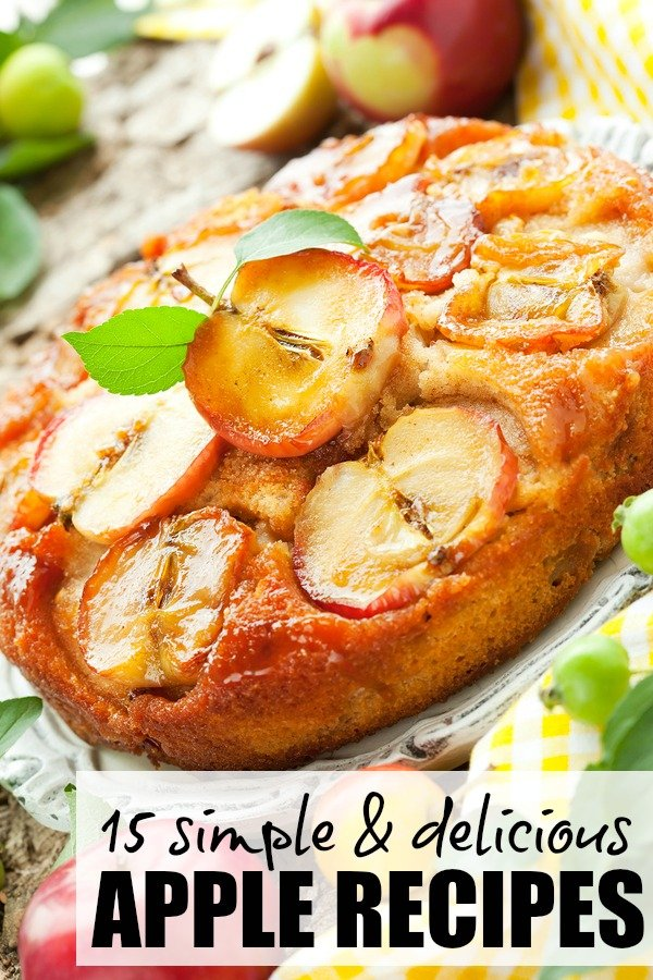 Whether you're on the hunt for dessert recipes, salad recipes, sangria recipes, apple cider recipes, or you just have too many apples lying around than you know what to do with, this collection of 15 simple and delicious apple recipes is for you!