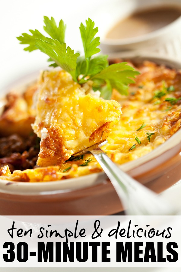 Ten simple delicious 30 minute meals for Something delicious to eat for dinner