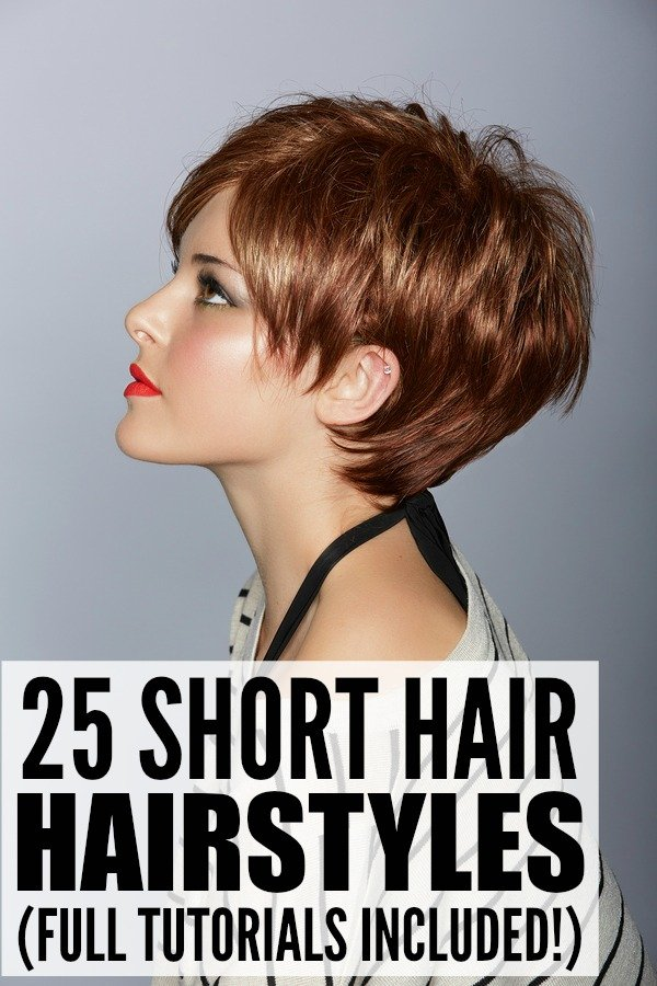 Who says short hair is boring??! This collection of simple, quick, and easy updos for short hair will teach you how to dress up your locks for every occasion - weddings, prom, school, or work - and while some are formal and elegant, others are cute and casual. Whether you prefer messy styles, braided updos, or need a look that will work with bangs, we've got you covered with this collection of 25 tutorials with step-by-step instructions!