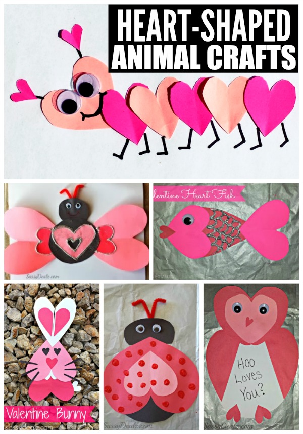 Heart Shaped Animal Crafts for Kids by Crafty Morning N2TR3W3u