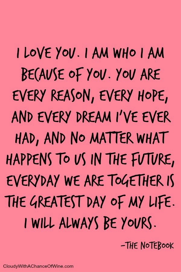 Whether you've recently fallen in love with your soul mate or you've been dating your boyfriend or girlfriend for years, need inspiration for wedding vows, or just want a nice sentiment to include in your true love's Valentine's Day card, we've got you covered. This collection of 25 love quotes is perfect for him and for her, and will help you tell your special someone exactly how you feel regardless of the occasion.