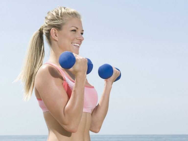 This collection of arm workouts with weights for women offers a great way to get rid of flabby arms at home. Using basic gym equipment you can buy at Walmart and Target (like kettlebells and dumbbells), these workout videos are perfect for beginners and will teach you how to get arms like a Victoria Secret model. I challenge you to do one workout a day for 30 days - you'll be amazed with results!