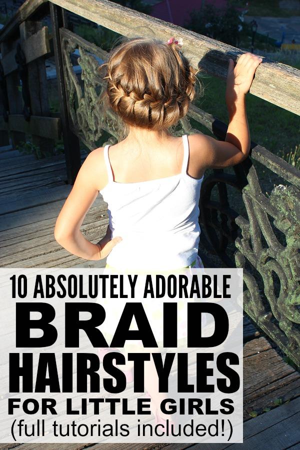 Fabulous 10 Adorable Braid Hairstyles For Little Girls Short Hairstyles Gunalazisus