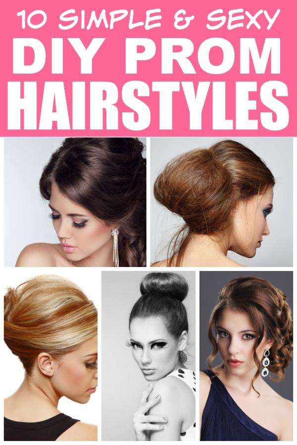 Phenomenal 10 Easy Diy Prom Hairstyles Short Hairstyles Gunalazisus
