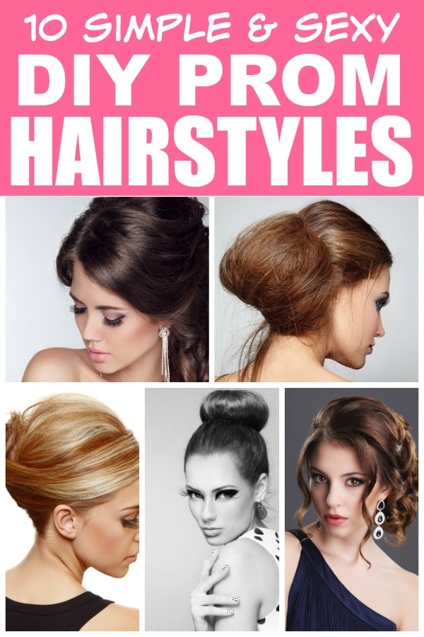 Pleasant 10 Easy Diy Prom Hairstyles Short Hairstyles Gunalazisus
