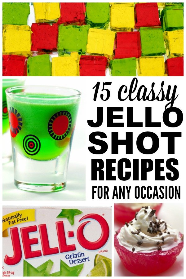 Whether you're throwing a dinner party, having the girls over for drinks, or hosting this month's book club at your house, these CLASSY jello shots are sure to be a hit with your guests. Just be sure not to have too many in a row as they can be quite potent! ;)