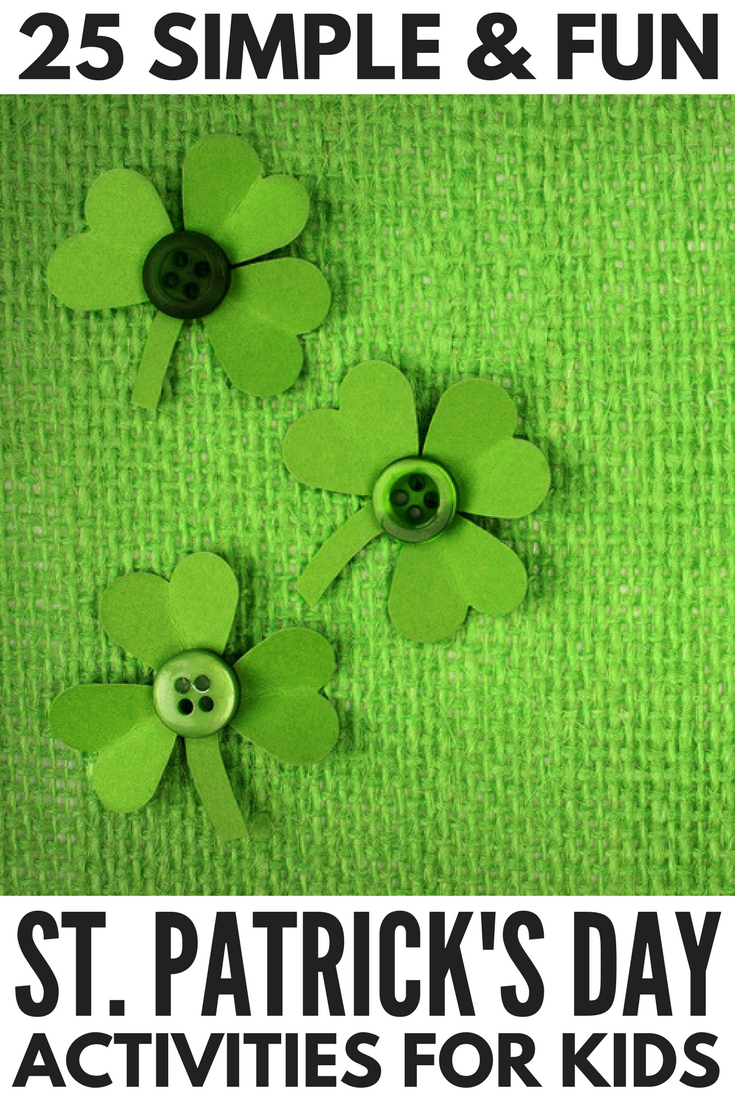 If you're looking for the perfect St. Patrick's Day crafts for kids to keep your little ones busy when it's too cold to go outside, we've got you covered. Whether you're looking for ways to keep toddlers and preschoolers entered at home, or need classroom ideas for schools, this collection of shamrock, leprechaun, and rainbow activities are sure to be a hit. We especially love number 12!