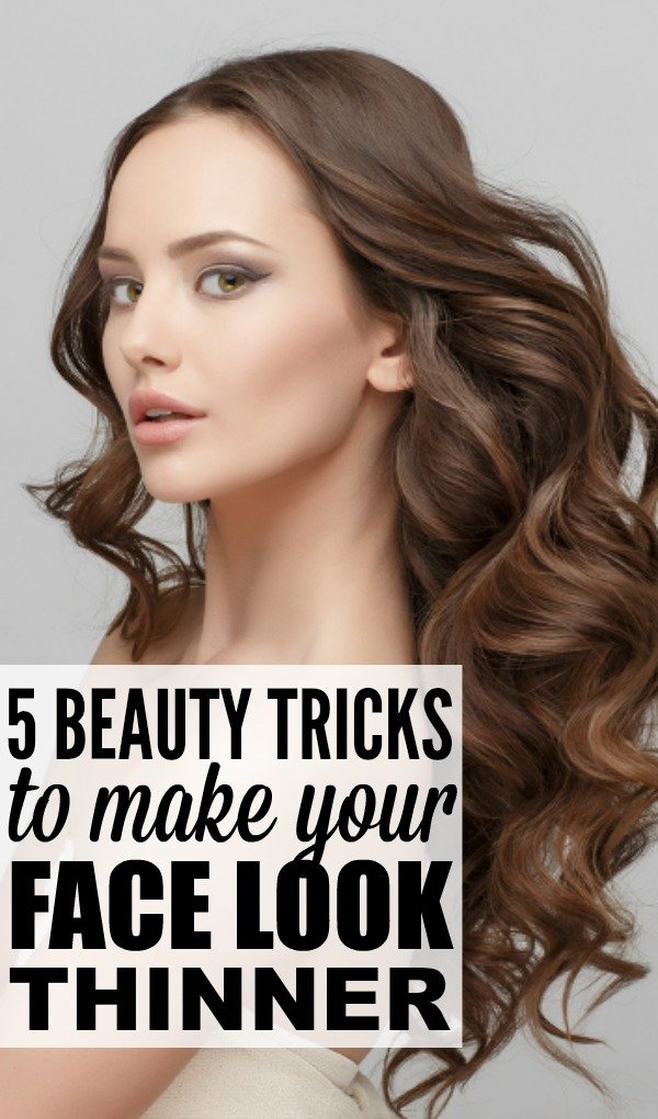 Want to learn to secret to making your face look thinner without giving up your favorite desserts and spending HOURS at the gym? You've come to the right place. We're sharing 5 beauty tricks to make your face look slimmer by combining our best tips around makeup, hairstyles, hightlights, and accessories, as well as the right way to accentuate your eyes with eyeshadow and eyeliner. These strategies have worked wonders for me, especially when it comes to making me look skinnier in pictures!