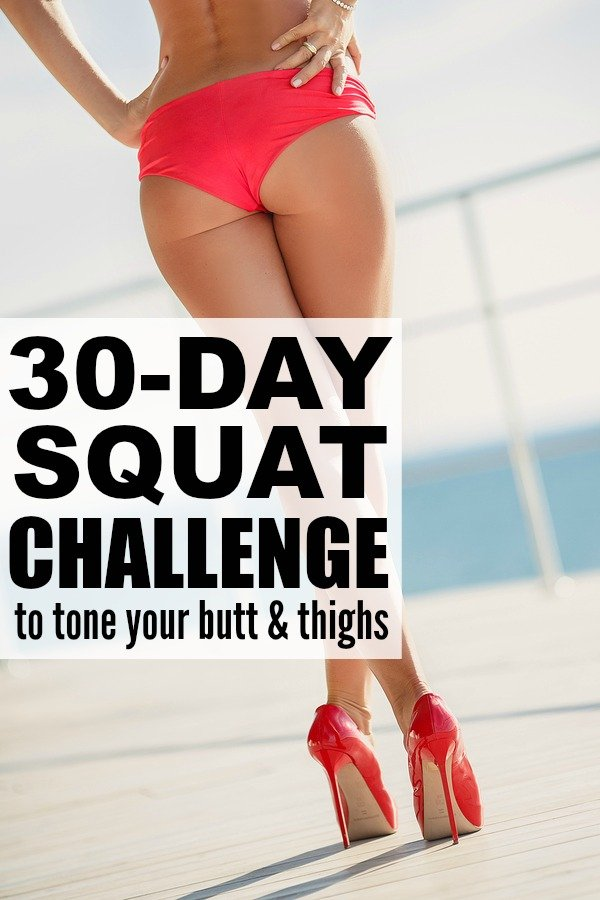 Looking for a 30 day squat challenge for beginners that will give you results? Give this one a go. With 10 different squat variations and only 10 repetitions of each, this butt and thigh workout takes LESS THAN 10 MINUTES to complete. Make sure to take before and after photos to track your results. Full workout video included!