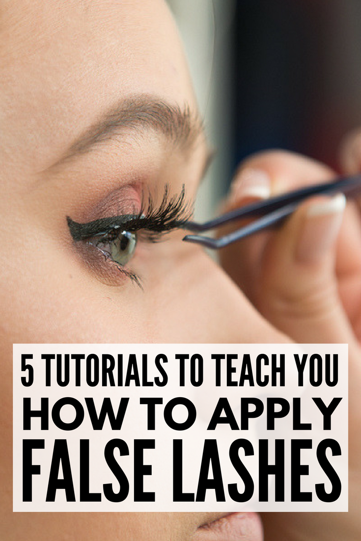 How To Apply False Eyelashes: 5 Great Tutorials!