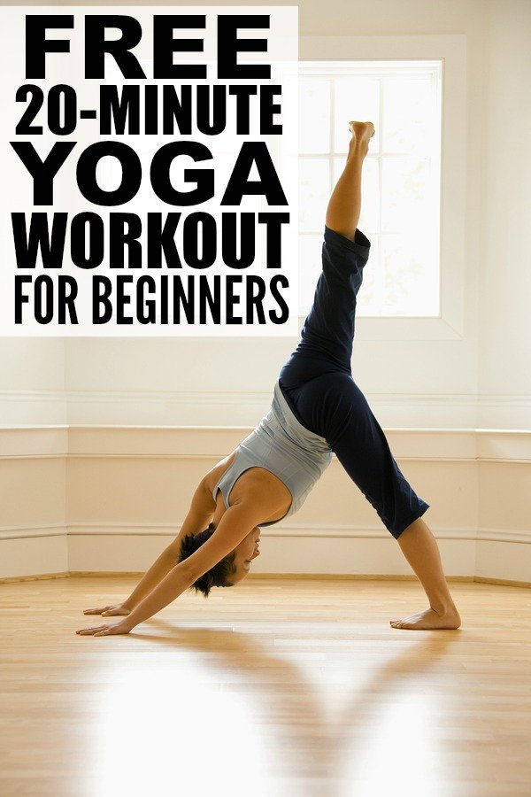 If you're looking for a way to build your core body strength and posture while also reducing your stress levels, but don't know the first thing about yoga, relaxation, or meditation, this 20-minute yoga workout for beginners if a FABULOUS place to start!