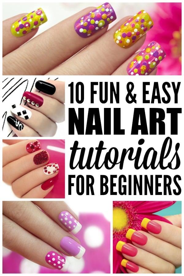 10 fun & easy nail art tutorials for beginners