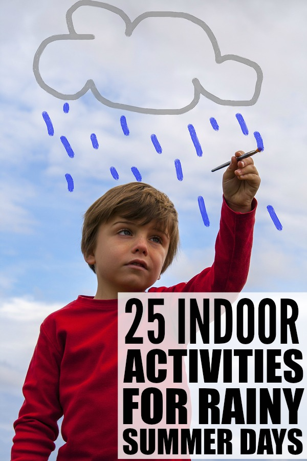 If you're looking for boredom busters to keep your preschooler busy on bad weather days, this collection of indoor activities for preschoolers is just what you need! It's PACKED with activities you can do with your kids, quiet activities for afternoons your little one won't nap, family game night ideas, and a slew of other educational activities to develop fine motor and literacy skills. Who says rainy summer days need to be boring??!