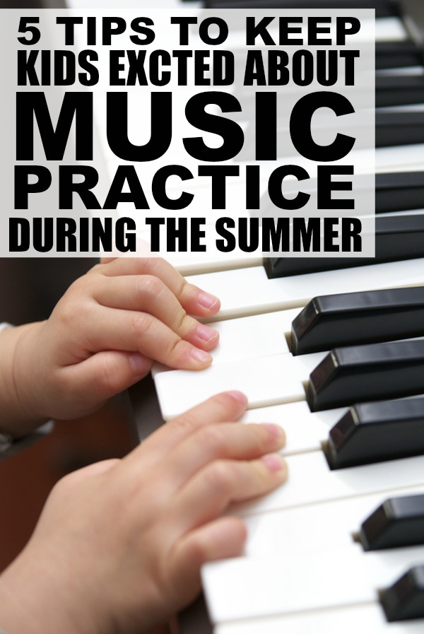 If your kids are kicking up a fuss about music practice now that the warm weather is (finally!) here, check out this collection of tips to keep kids excited about music practice during the summer! #ad