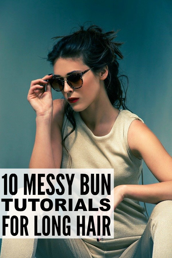 The messy bun is by far my favorite look when I'm running late and don't have time to shampoo my locks. This style works with short, long, and medium hair, and you can switch it up by positioning it high or low on your head depending on the occasion and your mood. Perfect for casual days and outdoor weddings, this collection of easy step-by-step tutorials will teach you how to do a messy bun from the comfort of your home.