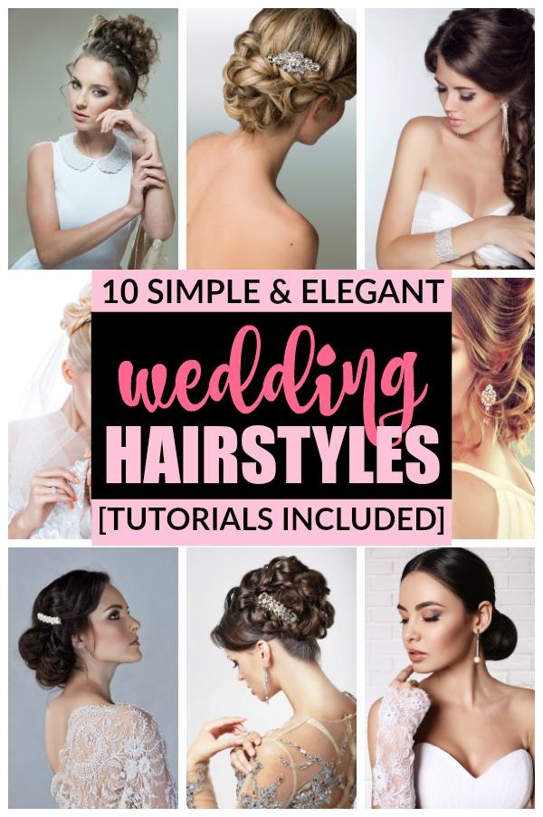 Stupendous 10 Simple Amp Elegant Wedding Hairstyles Hairstyle Inspiration Daily Dogsangcom