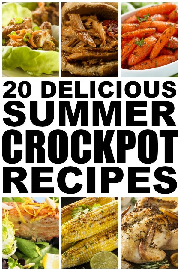 If you love your crockpot as much as I do, but prefer to eat lighter and healthier foods once the warm weather hits (darn weight loss goals!), this collection of 20 summer crockpot recipes is for you!