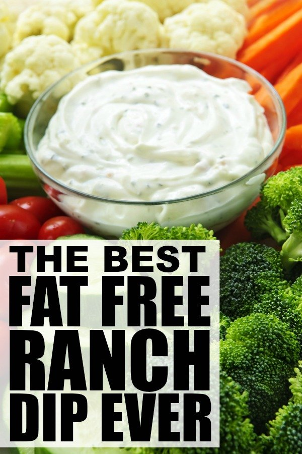Whether you're throwing a summer BBQ for your entire neighborhood, or just need a creative way to get your kids to eat more vegetables, this DELICIOUS fat free ranch dip recipe will keep everyone coming back for seconds!