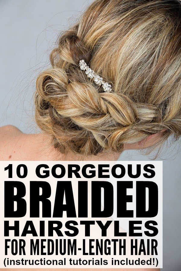 If you have shoulder-length hair and love to try out different updos to make yourself look trendy and stylish, check out this awesome collection of braided hairstyles for medium-length hair! These are perfect hairstyles for dirty hair, and I love that they can be dressed up or dressed down for different occasions. Full tutorials included!