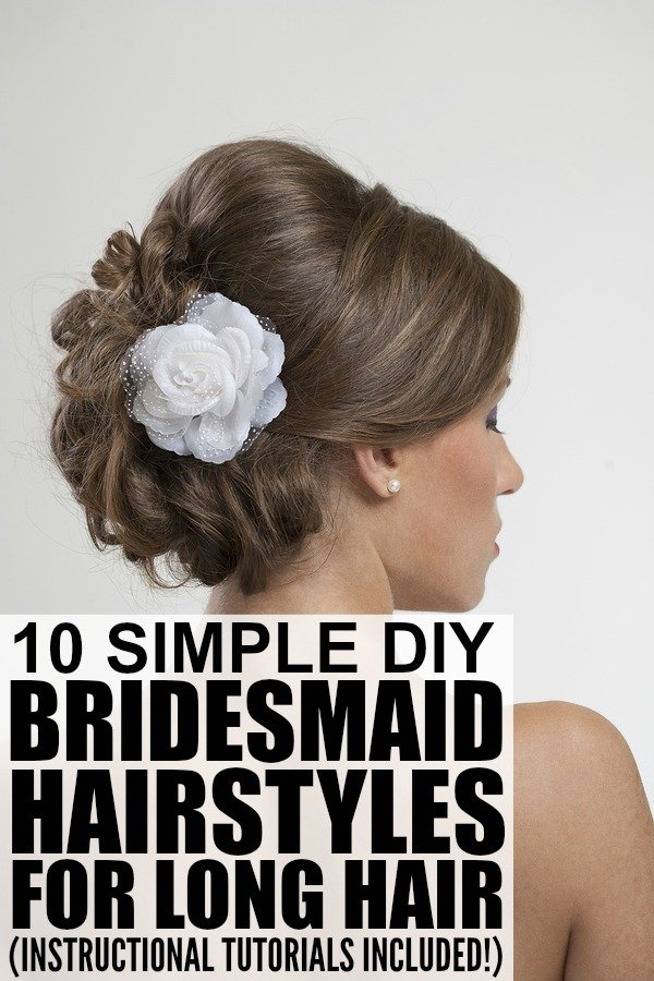 Brilliant 10 Bridesmaid Hairstyles For Long Hair Hairstyles For Men Maxibearus