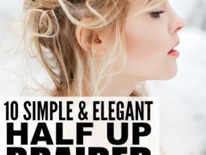 10 simple and elegant half up braided hairstyles for long hair