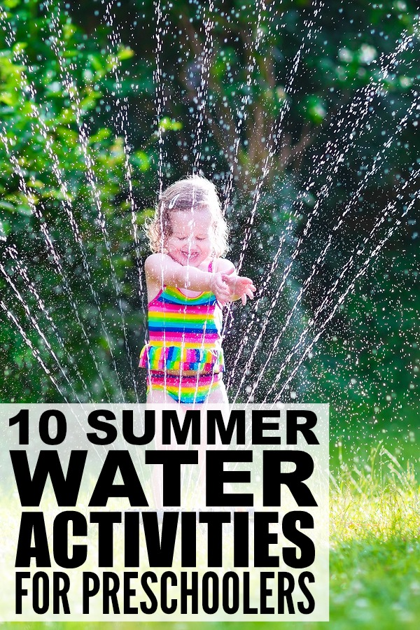 This collection of water activities for preschools is the perfect way to have fun in the sun with your kids this summer! These are simple enough that you can do them at home or while traveling, and they make for fantastic boredom busters for long summer days!