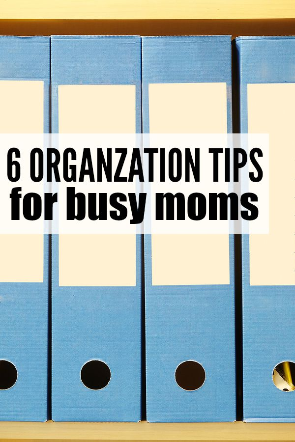 Whether you're a working mom, work-at-home mom, or stay-at-home mom, this collection of 6 organization tips for busy moms is just what you need to restore a little order into your life!