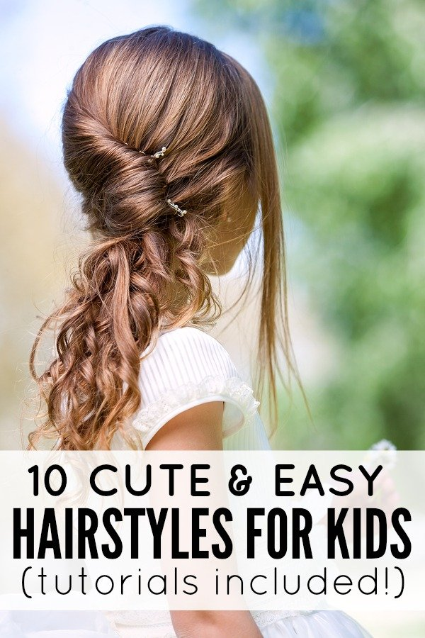 Strange 10 Cute And Easy Hairstyles For Kids Hairstyles For Women Draintrainus