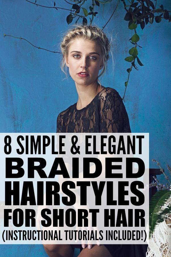 Remarkable 8 Braided Hairstyles For Short Hair Short Hairstyles Gunalazisus