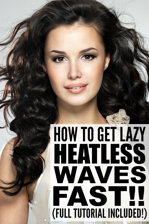 If you love sporting sexy waves, but hate torturing your hair with curling wands and hair straighteners each morning, check out this awesome tutorial that will teach you how to get lazy, heatless waves FAST! This look took me less than 10 minutes, and while it did take longer for my hair to dry, it was worth the effort. Not only did the waves look sexy, but they lasted ALL. DAY. LONG. This is by far the best heatless waves tutorial I've ever tried!