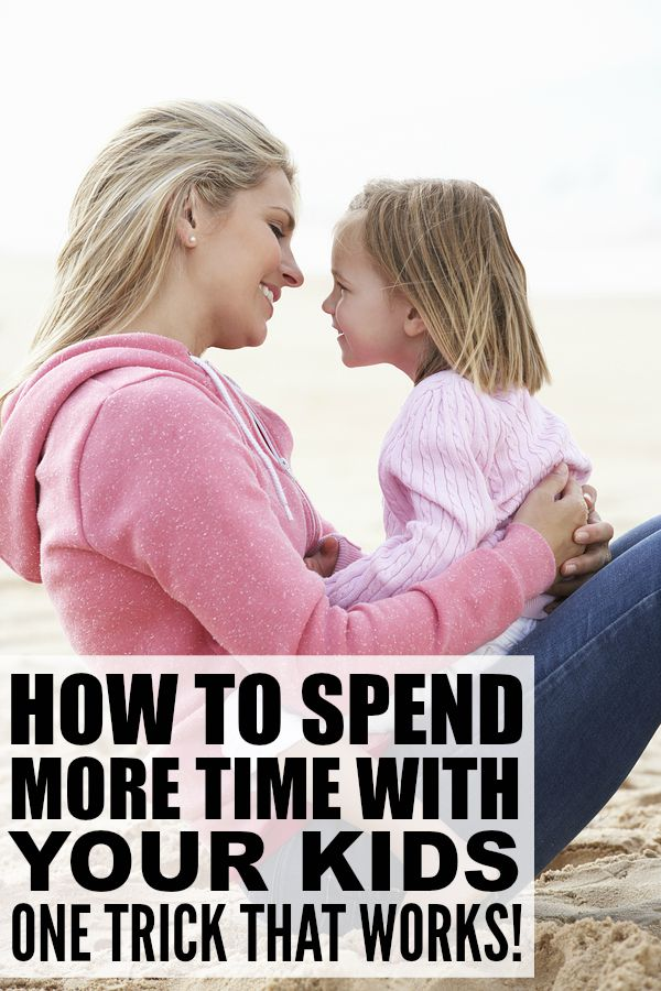 If you constantly feel like you're being pulled in a million different directions, and your kids are suffering as a result, this trick will teach you how to spend more time with your kids while still being able to maintain a sense of order to your home and life!