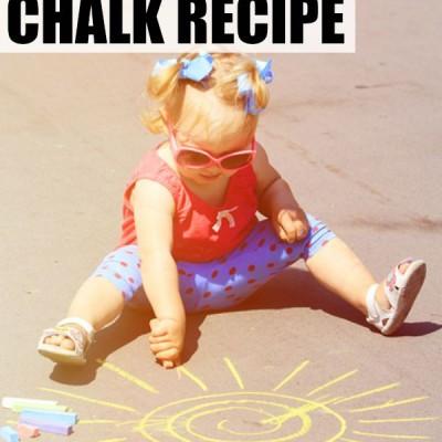 Simple 2-ingredient homemade chalk recipe