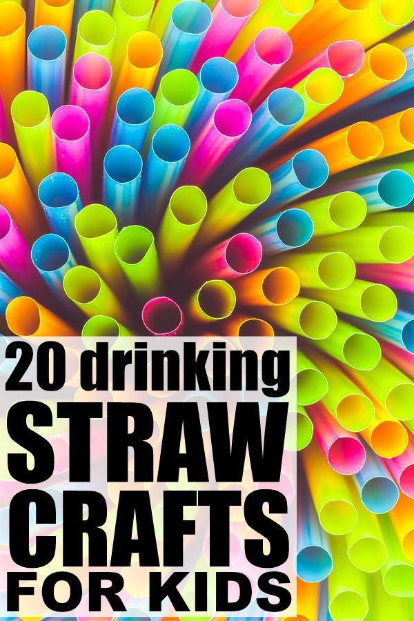 Art And Craft Activities For Kids: 20 Drinking Straw Crafts For Kids