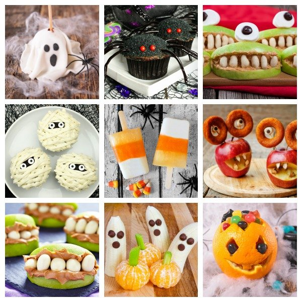 Looking for easy-to-make Halloween treats for kids you can make for this year's school party and/or for after school snacks your little one can enjoy with her friends to get in the trick-or-treating spirit? We've got you covered! This collection of 25 awesome goodies is filled with delicious snacks even the pickiest of eaters will enjoy. Some of these ideas are healthy...some not so much...but all of them offer a cool and fun way to get your kids in the Halloween spirit!