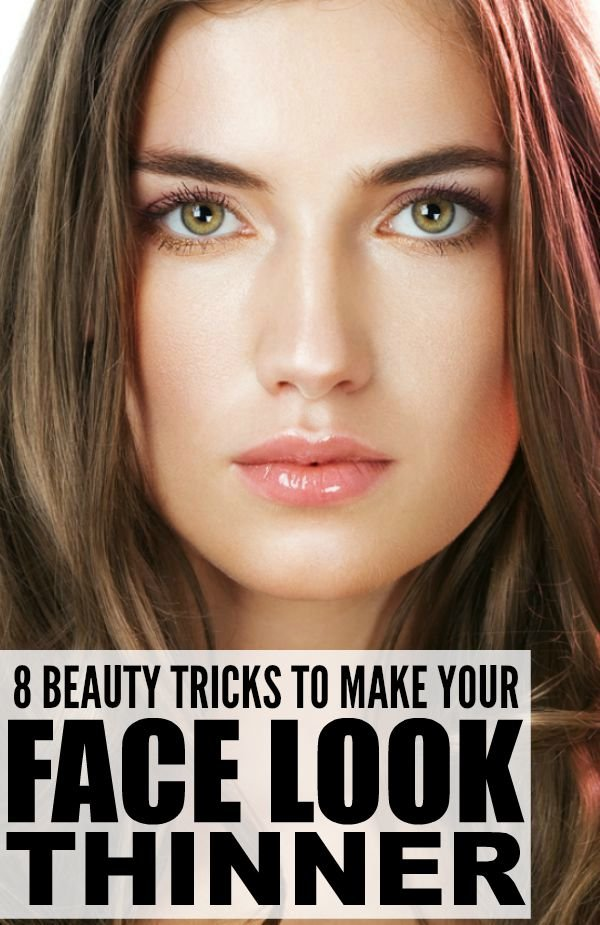 If you have a tendency to carry your weigt in your face, and want to learn how to make your face look thinner without giving up your favorite foods or spending hours at the gym, we've got you covered. We're sharing 8 beauty tricks to make your face look slimmer with makeup, the right hairstyle and highlights, by accentuating your eyes, choosing the right accessories, etc. These tips have worked wonders for me, especially when it comes to making me look skinnier in pictures!