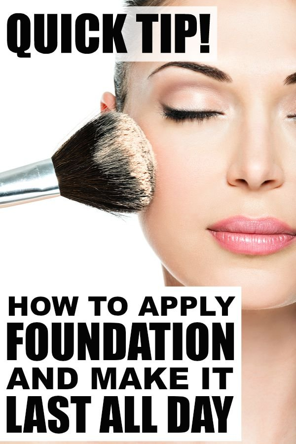 Beauty Tip: How To Apply Foundation So It Lasts All Day