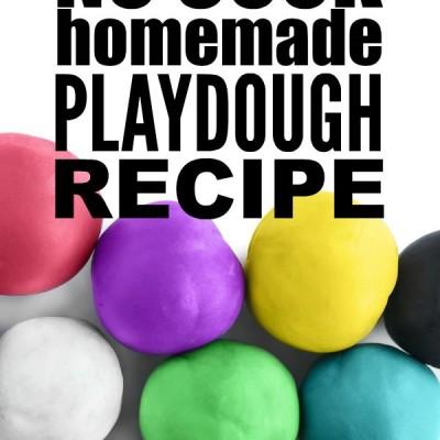 Quick and easy no cook homemade playdough recipe